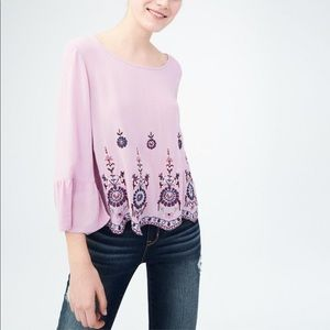 Aeropostale | Long Sleeve Embroidered Top